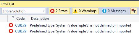 ValueTuple not defined
