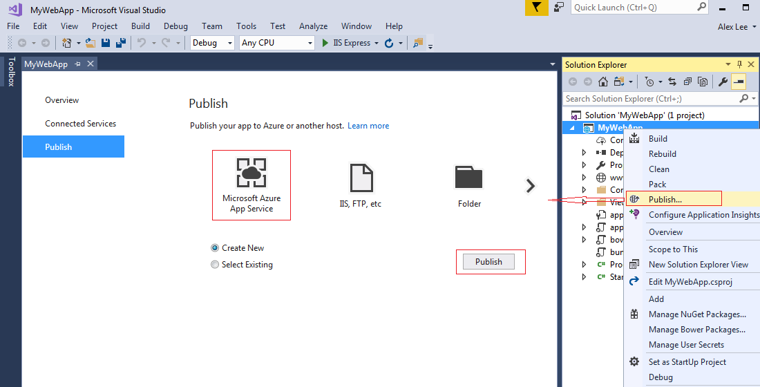 Azure Publish